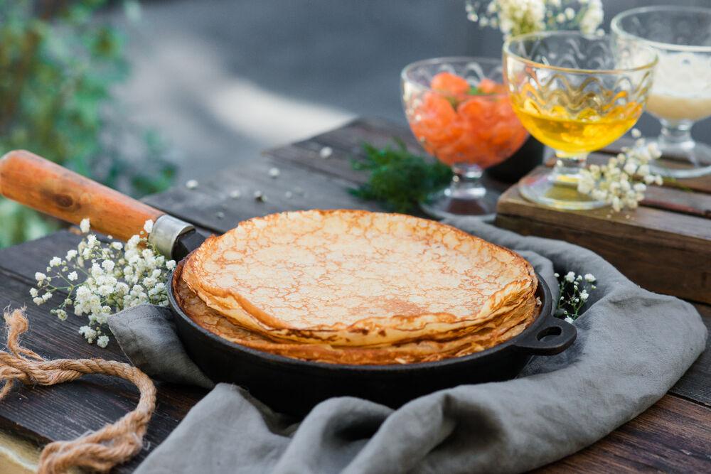 Pancake the fryig pan of 10 pcs