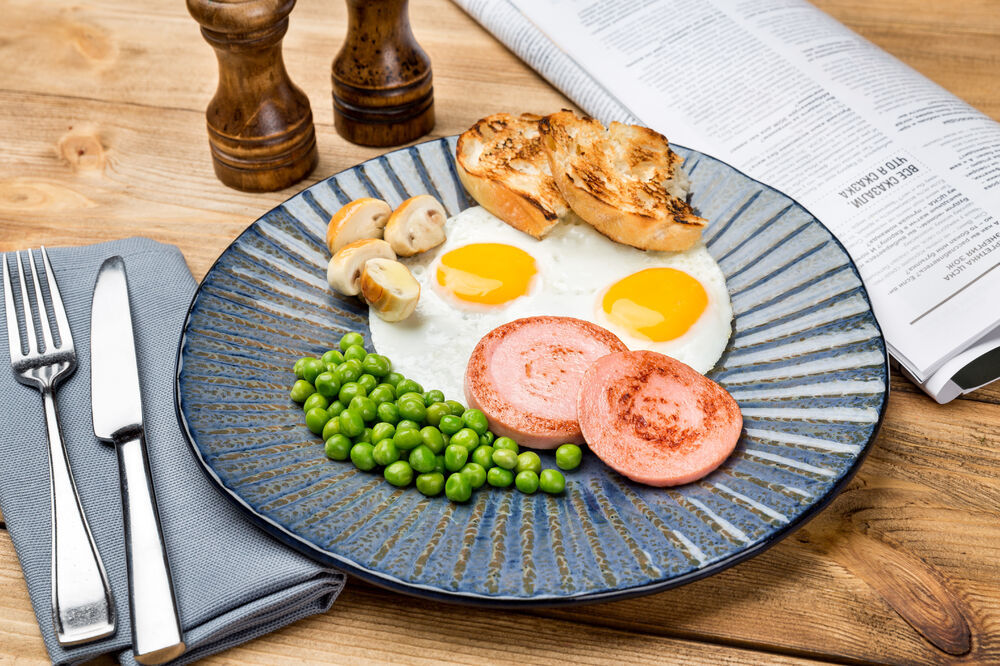 Homestyle fried eggs