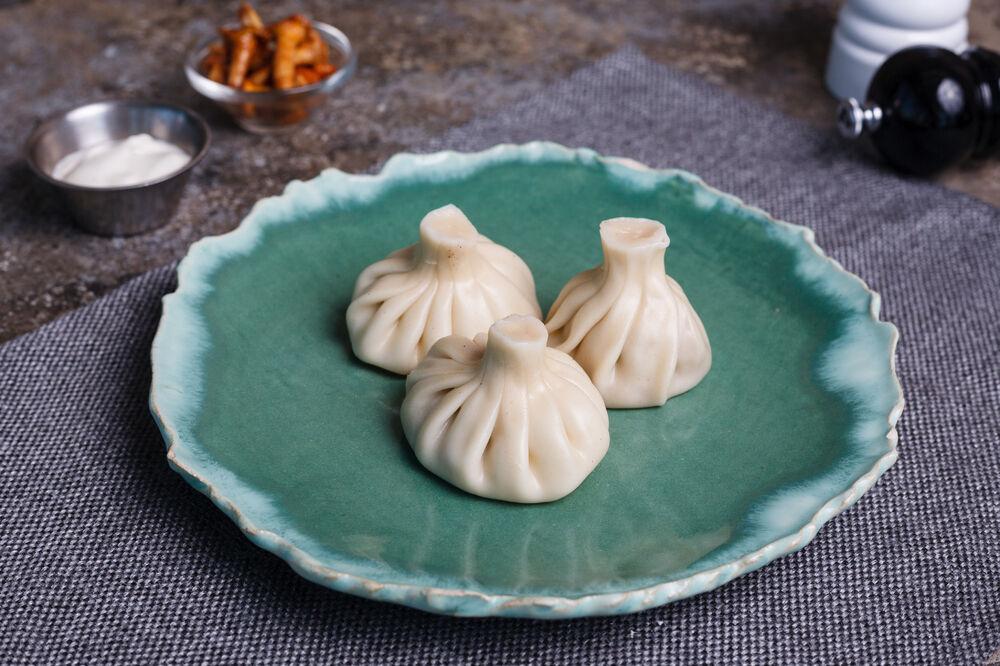 Khinkali with mushrooms