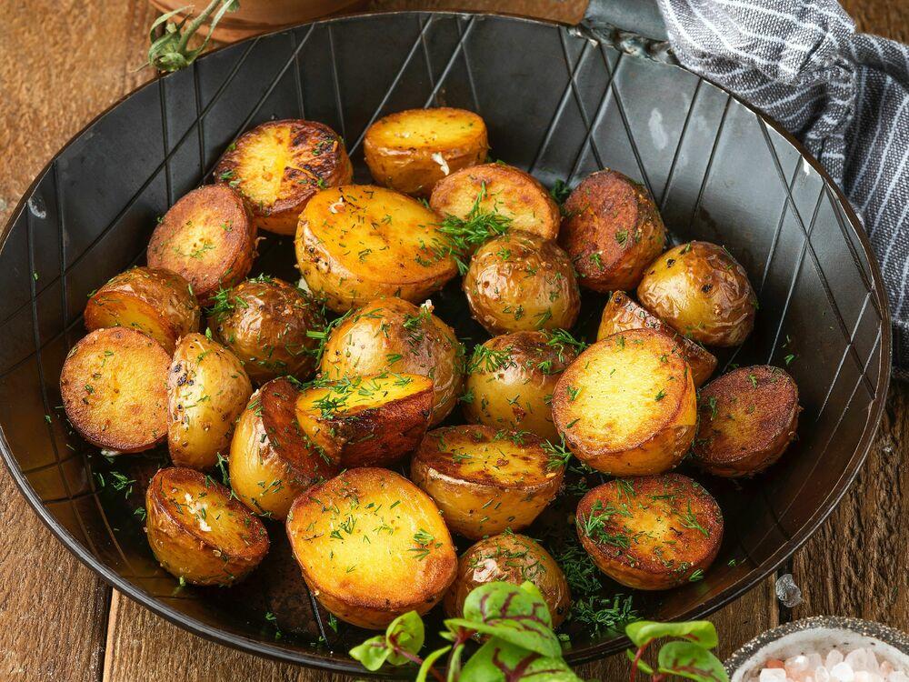 Fried mini potatoes