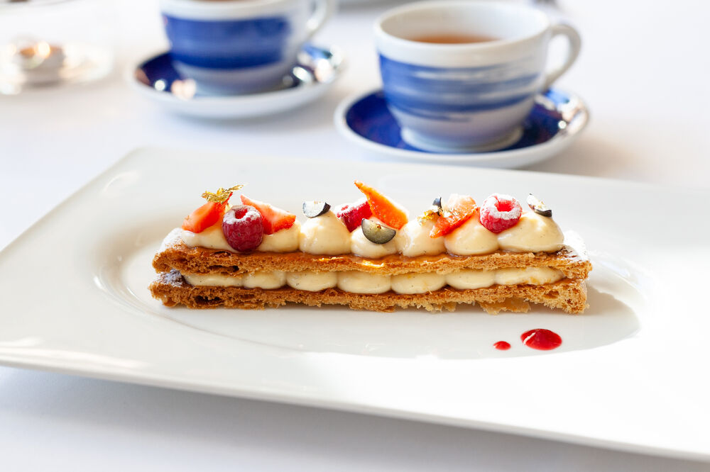 Millefeuille with Chantilly cream