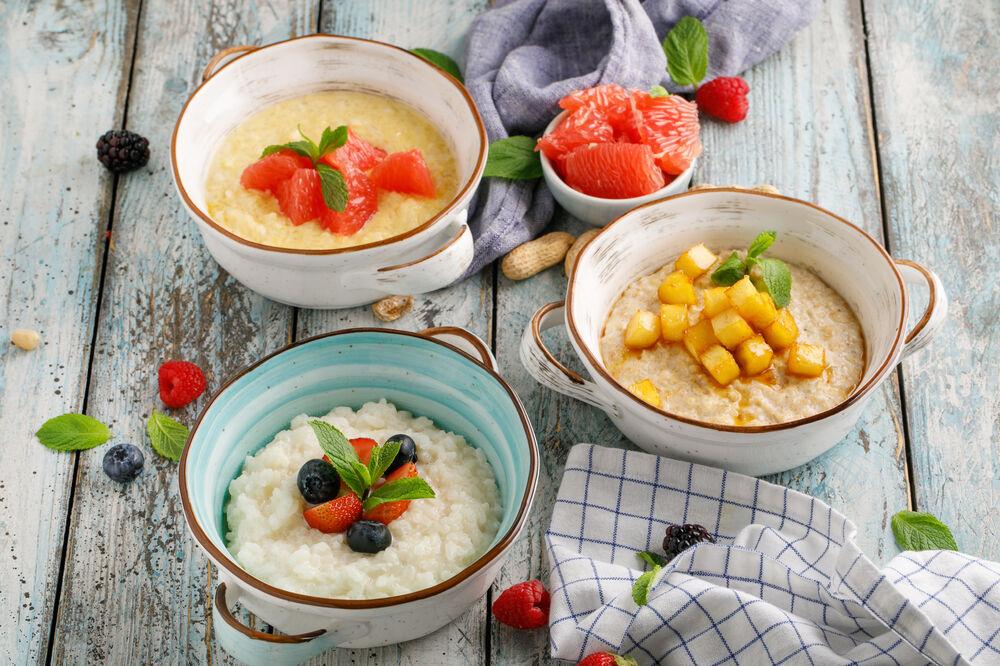 Rice porridge with grapefruit