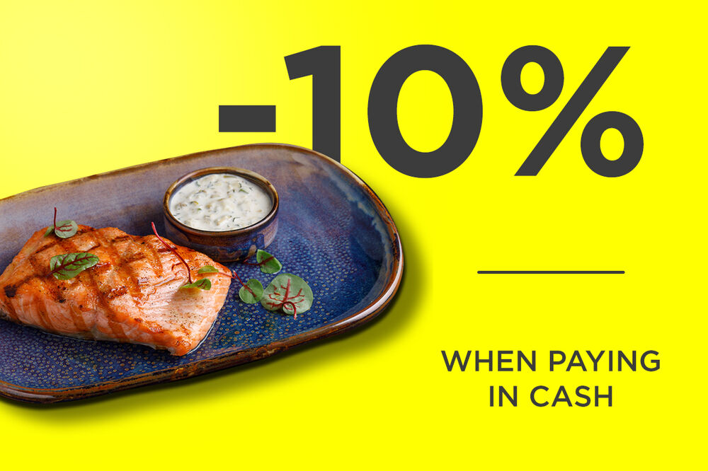 -10% when paying in cash