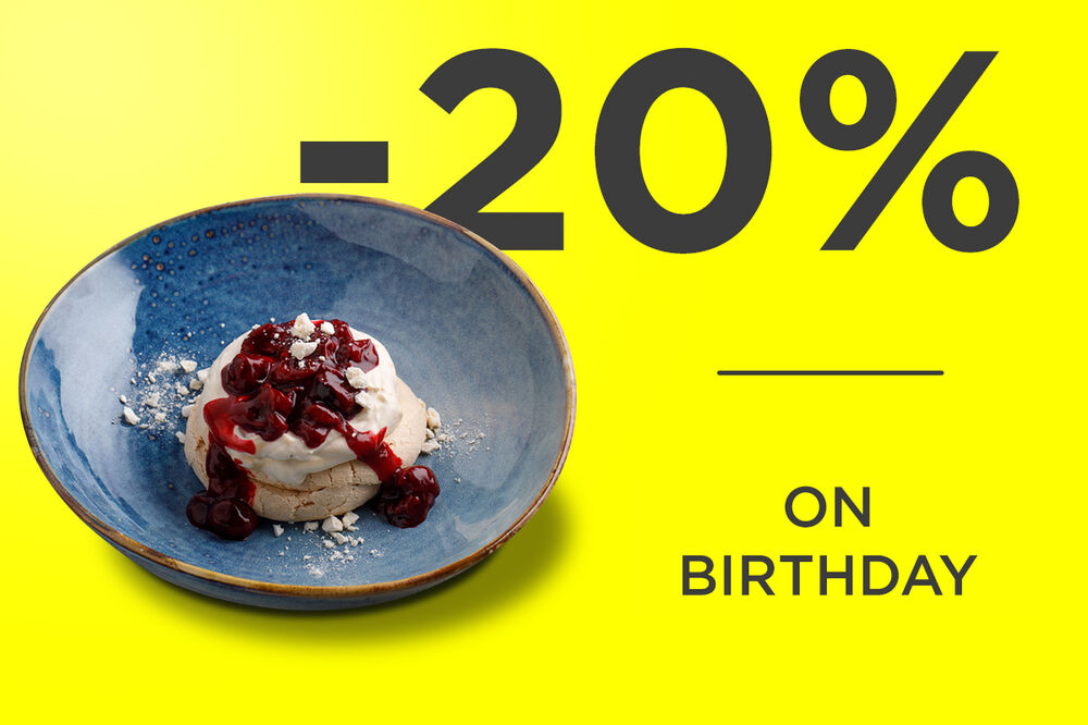 -20% on birthday