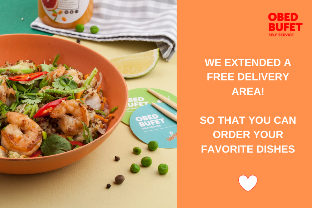 We have expanded our free delivery areas so you can order your favorite dishes!