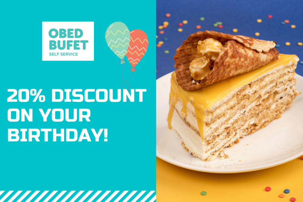 20% discount on delivery and pickup on your birthday!